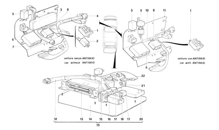 Algar Ferrari Parts : 3.2 Mondial : Table 127 - Secondary electrical ...