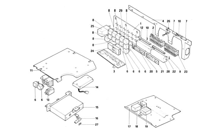 algar ferrari parts   308 gtb  gts qv   table 114