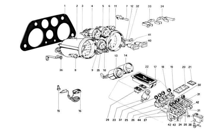 Algar Ferrari Parts : 308 GTBi/GTSi : Part Number 60053600 on