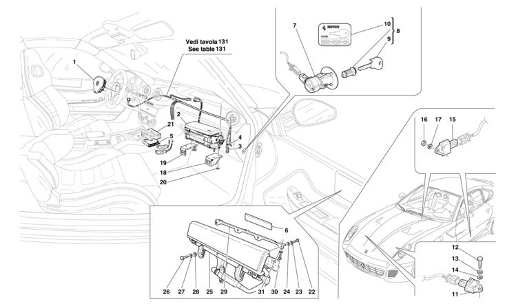 Algar Ferrari Parts 599 Gtb Fiorano Table 129