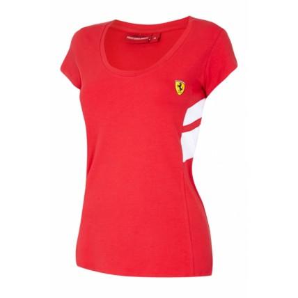 Ferrari Ladies Red Race Tee Shirt