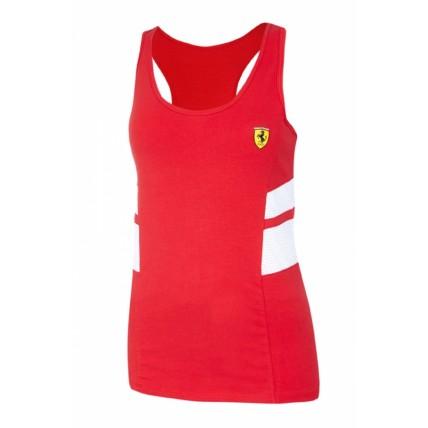 Ferrari Ladies Red Racer Tank Top